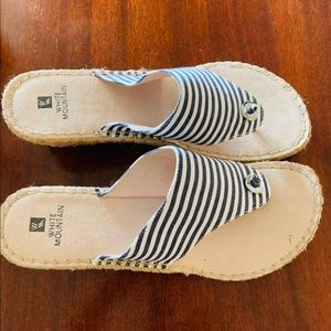 White Mountain Espadrille Wedge Sandal 8.5